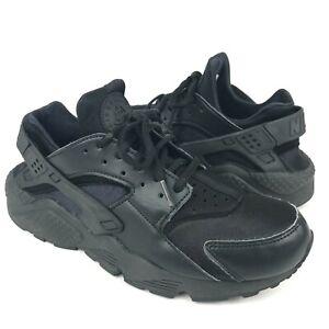 Nike Air Huarache RUN Triple Black Running Shoes 634835-012 Women's Size 9.5