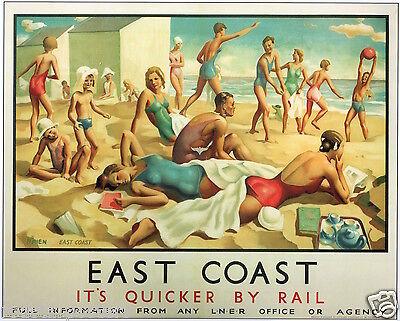 East Coast 459 Vintage Railway Art
