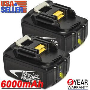 2-Pack-For-Makita-BL1860B-18V-Battery-6-0-AH-LED-Gauge-18-Volt-LXT-400-BL1850B-2