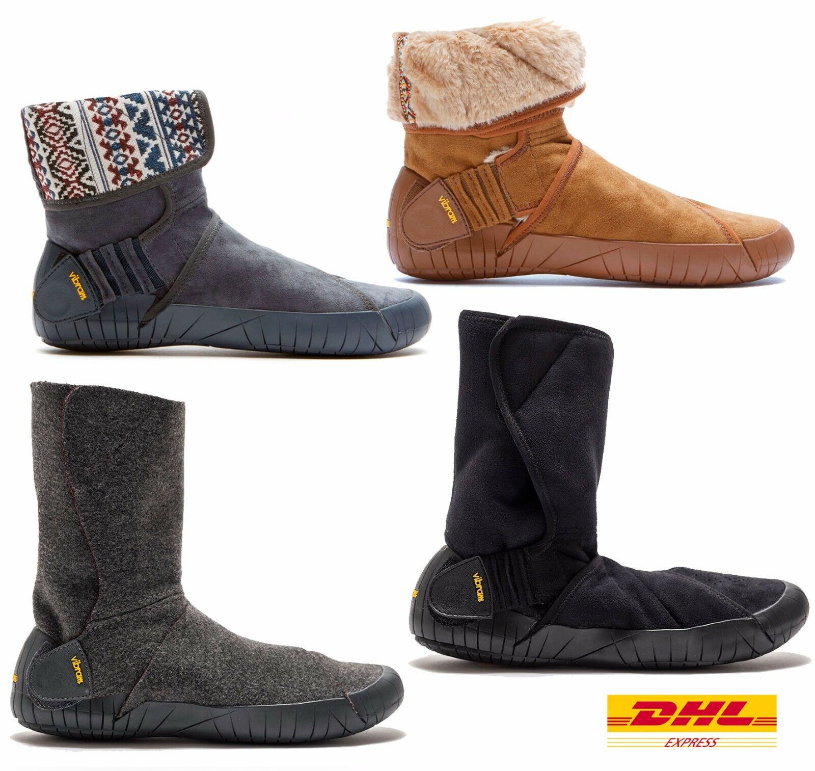 VIBRAM FUROSHIKI BOOTS WINTER WOMENS MENS WARM MID HIGH SHEARILNG