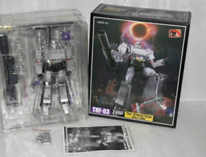 New ,Deformation toys THF-03T transparent version of megatron head and chest