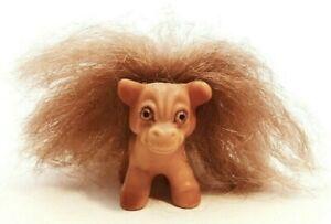 DAM Things Troll Horse Pony Animal EST 1964 All Original Coarse Brown Mane Tail