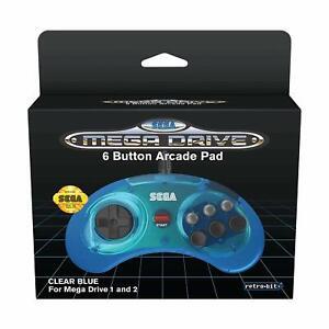Retro-bit-Officiel-Sega-Mega-Lecteur-Manette-6-Button-Arcade-Pad-Neuf