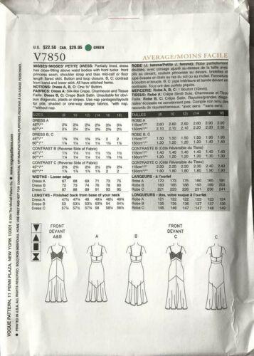 VOGUE V7850 MISSES/' RED CARPET EVENING FORMAL SPAGHETTI DRESS PATTERN SIZE 8-18