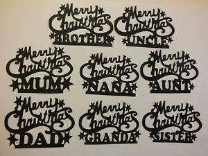 9 Merry Christmas Family Mr Mrs New Baby Mum Dad Sister Ebay