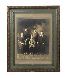 "Antique Gold Painted Wood and Gesso Art Nouveau Picture Frame Fits 12.75"" x 9.5"""