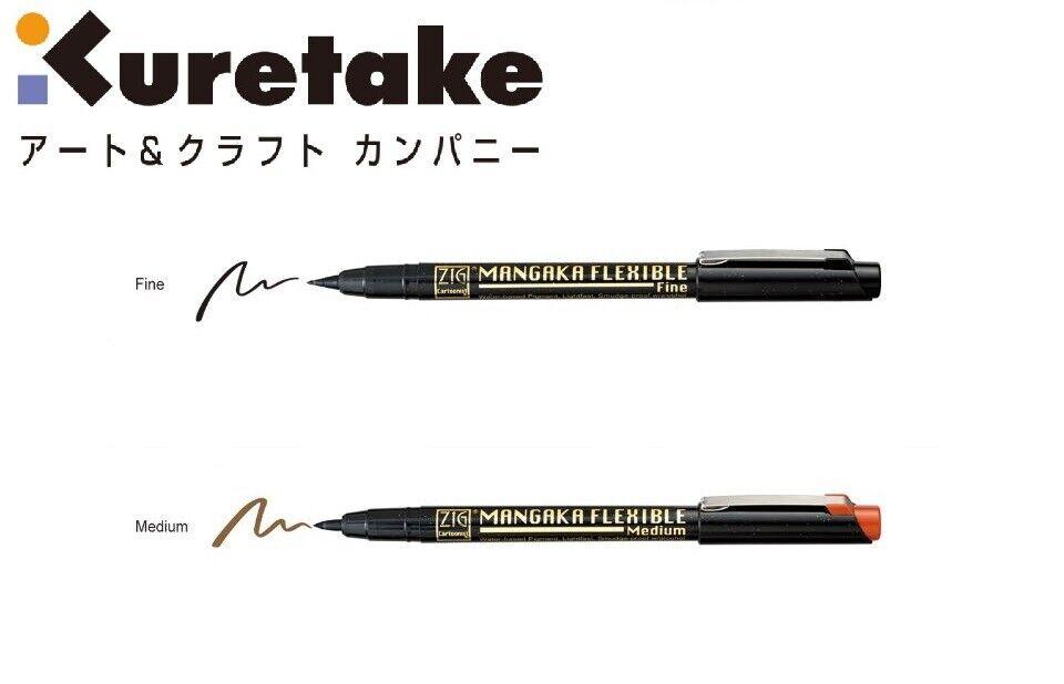 Black Mangaka Kuretake ZIG Cartoonist CNM//3VBK 3 Pieces