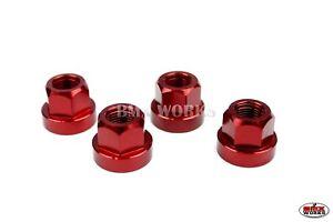 "BMX Aluminum Axle Nuts Set of 2 RED 3//8/"" x 26t"