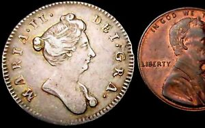 T232-Mary-II-Pattern-Silver-Farthing-1689-1694-but-circa-1689