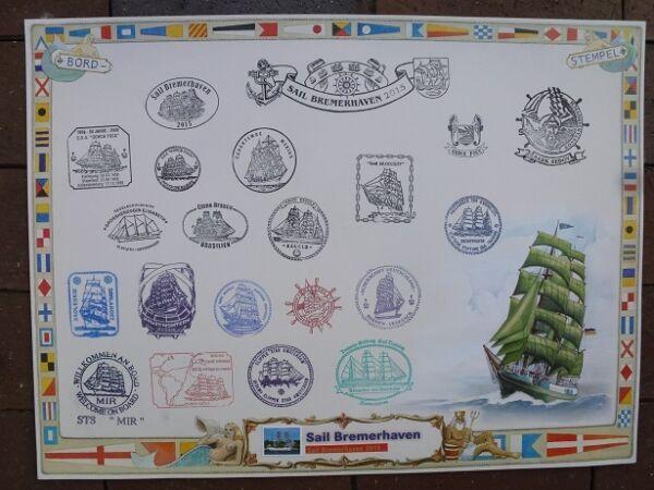 Sail Bremerhaven 2015 Alexander V. Humboldt Original Bordstempel Segelschiff Starke Verpackung