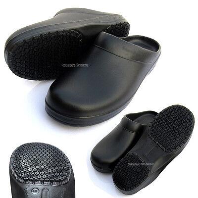 Men Chef Shoes Oli Resistant Non Slip Sandals Skid Kitchen Cook Safety Clog Mule