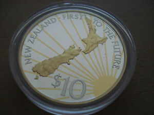 2000 New Zealand 10 $ Silver Proof - Vienna, Österreich - 2000 New Zealand 10 $ Silver Proof - Vienna, Österreich