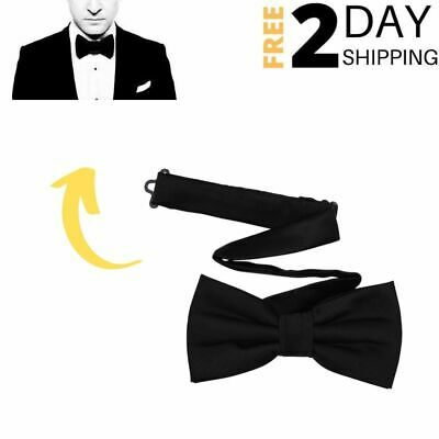 Boys /& Mens Classic Pre-Tied Satin Polyester Tuxedo Bow Tie For Birthday Party