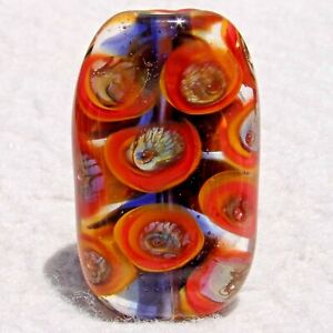 OGLE-Handmade-Art-Glass-Focal-Bead-Flaming-Fools-Lampwork-Art-Glass-SRA