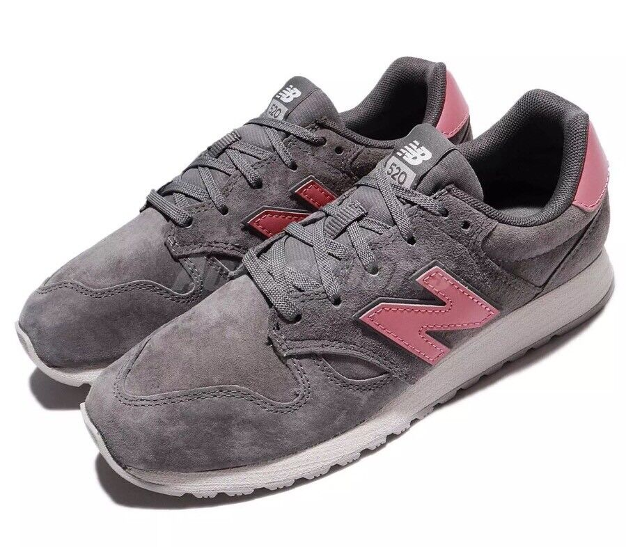 New Balance Casual Suede Shoes Women's Size 9 Grey/Pink WL520AG NEW! Free S/H!