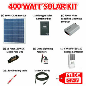 Sonali 400 Watts 12V Solar Panel Kit - Best quality products used in this kit
