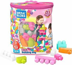 Mega-Bloks-Big-Building-bright-primary-colored-blocks-Pink-80-Piece-Bag
