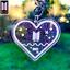 miniatura 3 - BTS merchandise Army Loveheart keychain - 2 Variations | Kpop Keyring