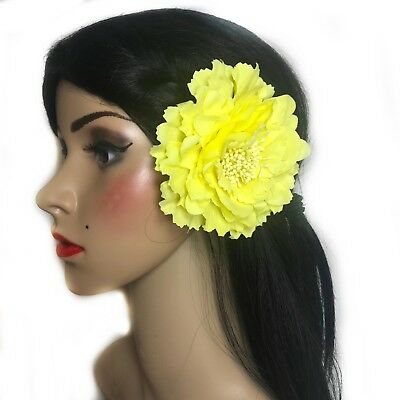 fascinators rose with hair clip brooch pin /& hair elastic comes in 5 colours