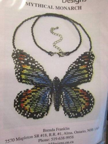 Brenda Franklin Beaded Knitting Butterfly OR Moth Kit Your Choice-Butterfly Size