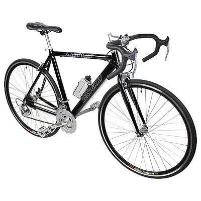 New Black 21 Speed Aluminum Road Bike Racing Bicycle 54cm 700c Shimano Parts