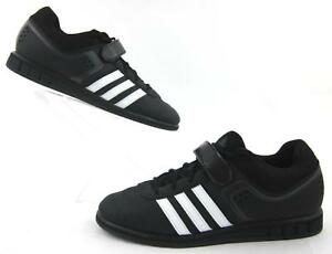 reputable site 9770e 5f90e Image is loading Adidas-Powerlift-2-0-Weightlifting-Shoes-Black-White-