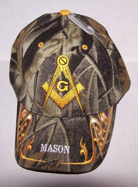 CAMO MASON  BALL CAP * MASONIC CAP