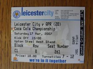 17032007 Ticket Leicester City v Queens Park Rangers - Birmingham, United Kingdom - 17032007 Ticket Leicester City v Queens Park Rangers - Birmingham, United Kingdom
