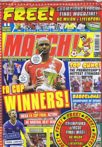 ARSENAL Match May 24 2004 5 STILL SEALED + CHAMPIONS LEAGUE MAG
