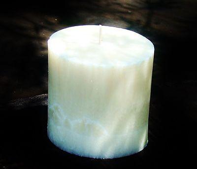 40hr SANDALWOOD /& ROSES Triple Scented Natural Pillar Candle HOME FRAGRANCE GIFT