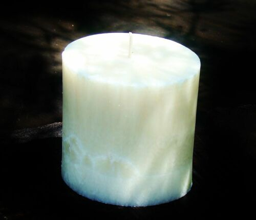 90hr WHITE GARDENIA Triple Scented Natural OVAL CANDLE Free Shipping Postage