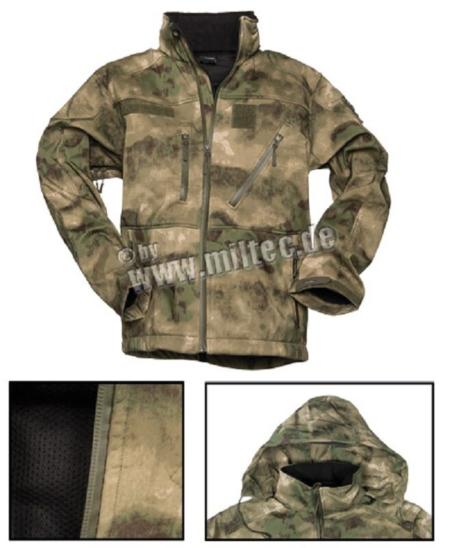 MILTACS FG Softshell In Pile Outdoor Giacca SCU 14 MIM Army Coat LLarge