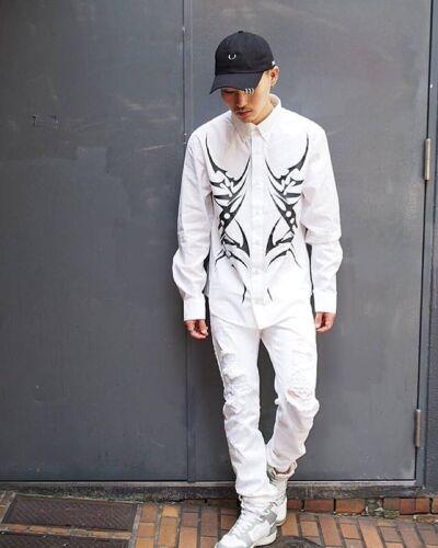 Abbigliamento DI MARCA A PULSANTE Tribale shirt bianca-Unisex Selfridges Boy London