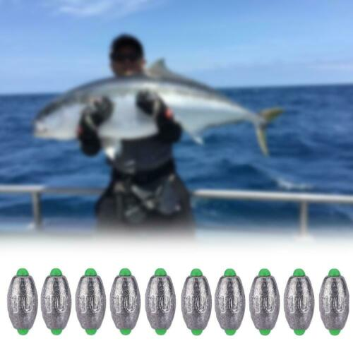 10pcs 10g Durable Lead Split Shots Fishing Sinkers Fishing Tackle Accessory New