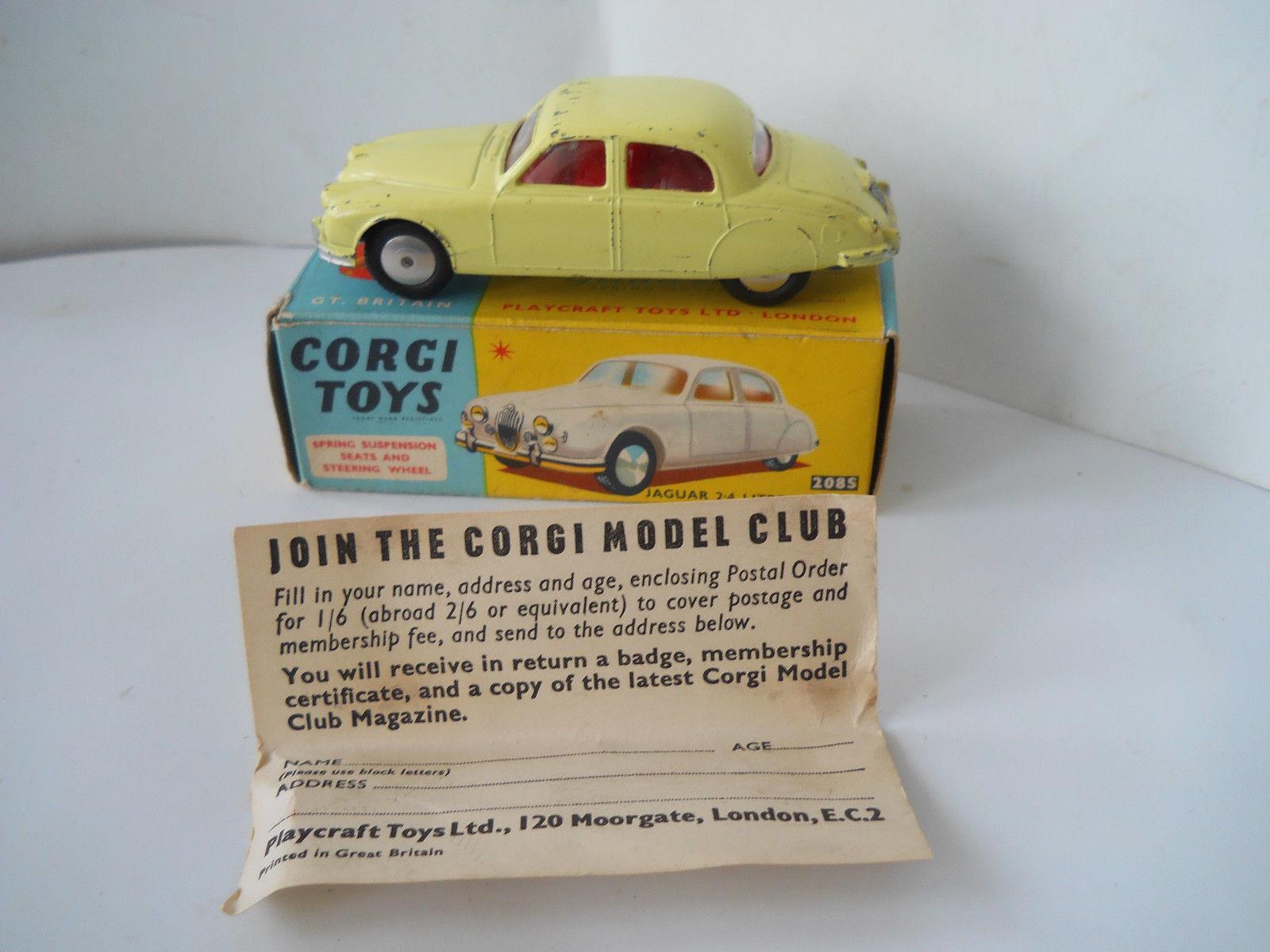 Early CORGI JAGUAR 2.4 L Saloon 208 S en  boîte  jusqu'à 65% de réduction