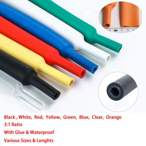 Φ39mm-160mm Schrumpfschlauch Mit Kleber 3:1 Auto Kabel Elektrisch DIY Alle Farbe