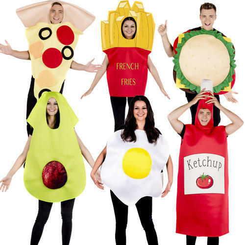 Novelty Fast Food Fancy Dress Stag Hen Night Funny Oversized Adults Costumes New
