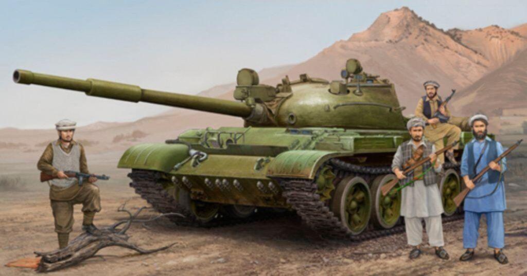 Trumpeter 01551 1 35 Static Model T-62 Mod.1975 [Mod.1962+KTD2] Tank Chariot