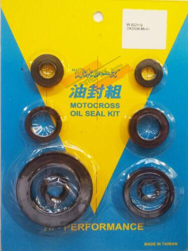 /'01 Honda CR250 CR 250 1988 1989 1990 1991 Engine Oil Seal Kit Also CR500 /'89