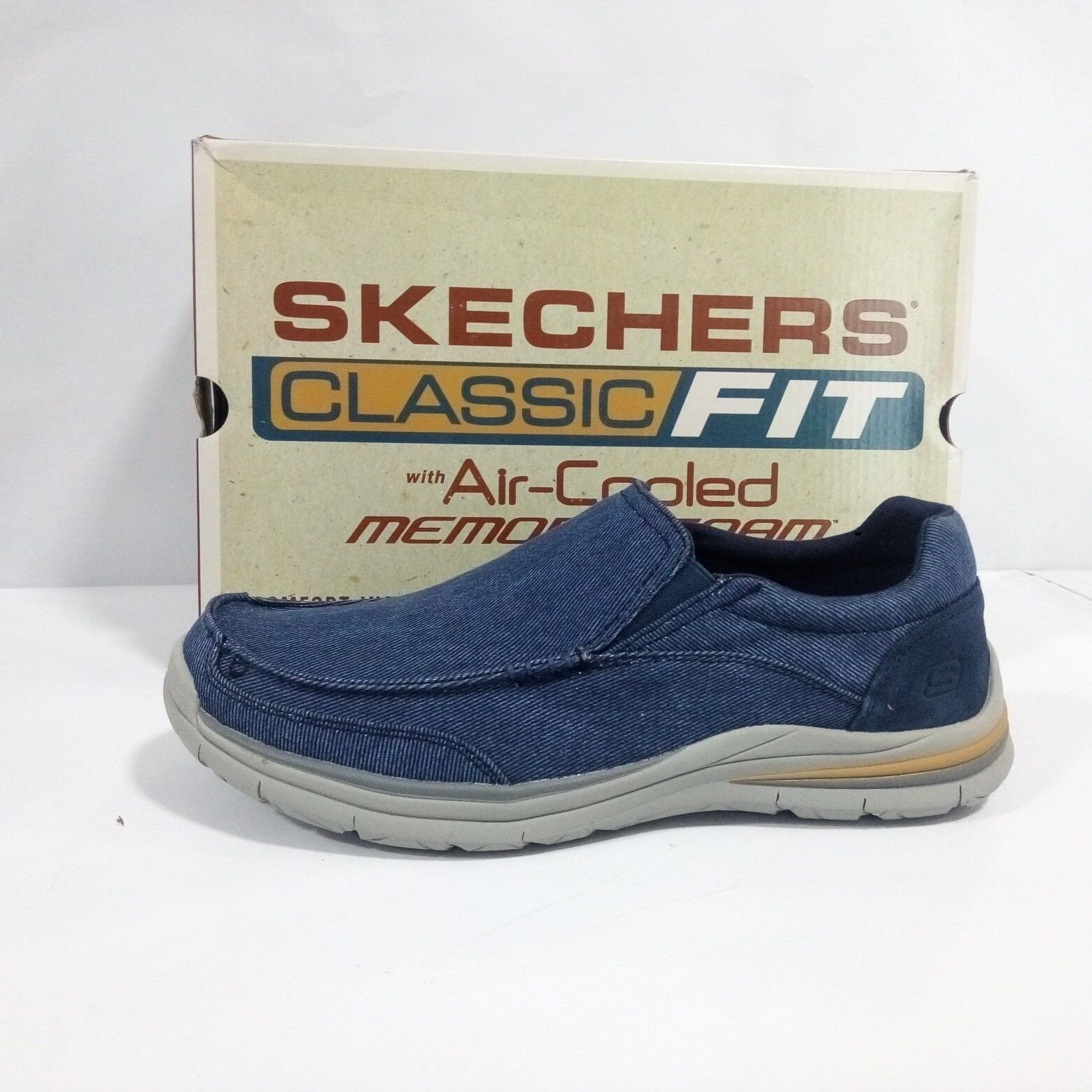 shoes Skechers men - Mocassino Superior 2.0 Vorado - Denim - 65195