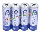 4PCS BTY 1.2V 3000mAh AA Rechargeable Ni-MH Battery