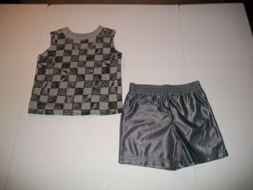 Boys Wonder Kids 2 Piece  shorts Set. New 24M Skulls, Guitars, Etc 2T /& 3T