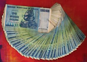 Million Zimbabwe Dollars Banknotes