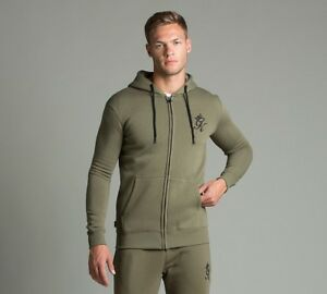 Rrp Olive 49 Zip Mens 99 £ King capuchonjack Gym Full Burnt qwc0WFHB