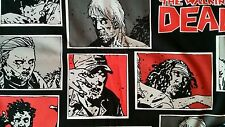 The Walking Dead zombie panel comic character black TV 100% Cotton Fabric