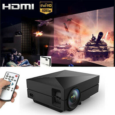 Home Cinema Theater Portable Mini LED LCD Projector 1080P HD HDMI AV USB VGA SD