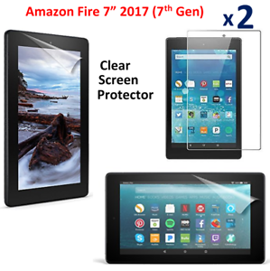 """2017 7th Gen 2 X Clear HD Screen Protector Guard Cover For Amazon Fire 7/""""Alexa"""