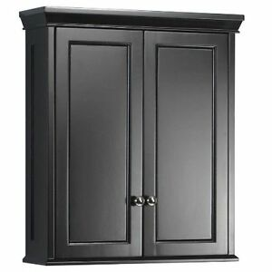 bathroom wall cabinets black bathroom wall storage cabinet hanging medicine shelf bath 17099
