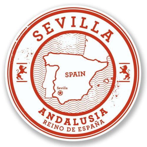 2 X Sevilla Sevilla España Pegatina de vinilo Laptop Viaje Equipaje Coche #6580