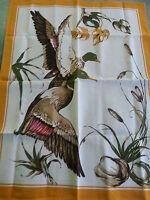 Mallard Duck Cotton Print Tablecloth Runner Hand Towel Great Gift